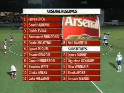 Chuks Aneke Vs Michael Uwezu Reserves Fulham v Arsenal Dec 8 09