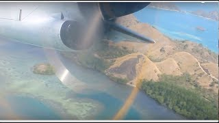 Takeoff Komodo Airport, Labuan Bajo Flores ATR 72–600 Garuda