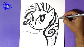 how to draw my little pony, - Como dibujar a Rarity 3 - how to draw rarity