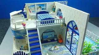 ❤️How to make doll house.❤️ cute kid dollhouse with swimming pool.