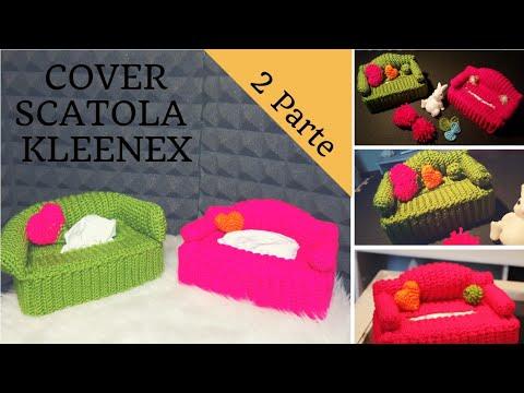 Divanetto Porta Fazzoletti.Ii Parte Tutorial Cover Divanetto Scatola Fazzolettini Di Carta Crochet Tissue Box Sofa