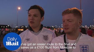 England fans in Russia give their verdict on Belgium loss