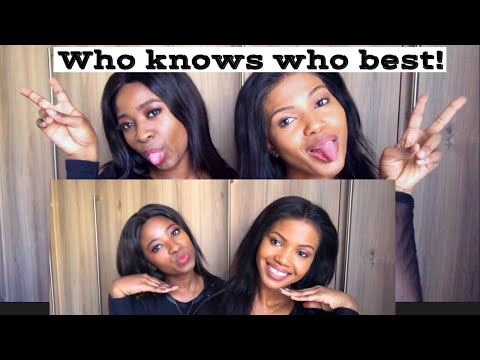 WHO KNOWS WHO BEST (CHALLENGE) & A CONSEQUENCE | MELO's MOM SA