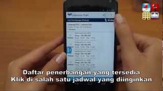 How to book a flight using Indonesia Flight Android Apps (IF)