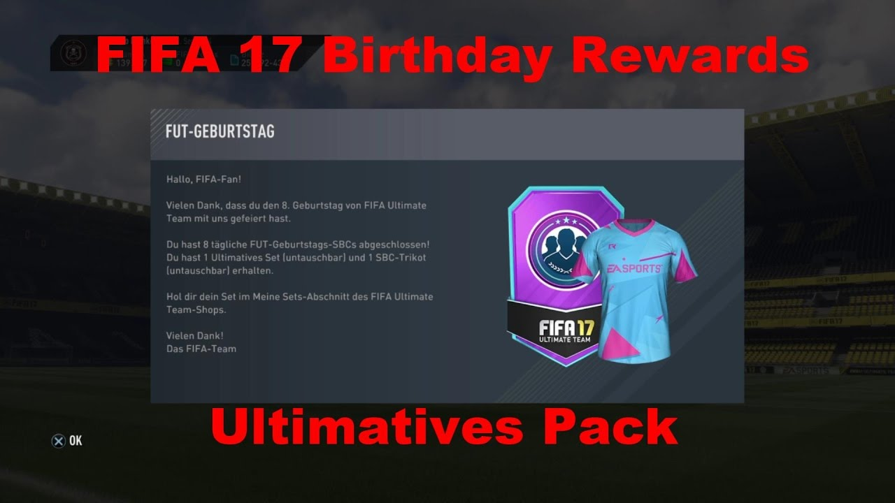 Fifa 17 Squad Builder Challenge Birthday Rewards Geburtstag