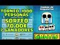 TORNEO DE 1000 PERSONAS CON PACKS EMOJIS Y PLAZA BRACKET 800€ + SORTEO 70€ EN PREMIOS | CLASH ROYALE