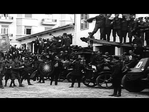 Greek people vote and restore the monarchy of King George II in Greece. HD Stock Footage