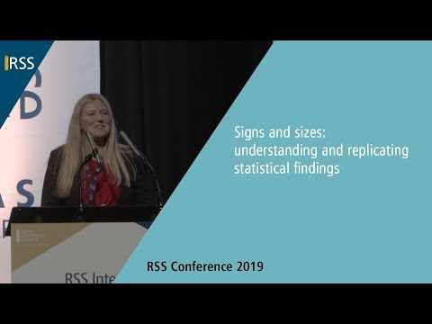 Keynote - Signs and sizes: Understanding and replicating statistical findings