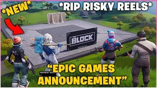 EPIC GAMES ANNOUNCEMENT AT GAME AWARDS *RIP RISKY REELS*!
