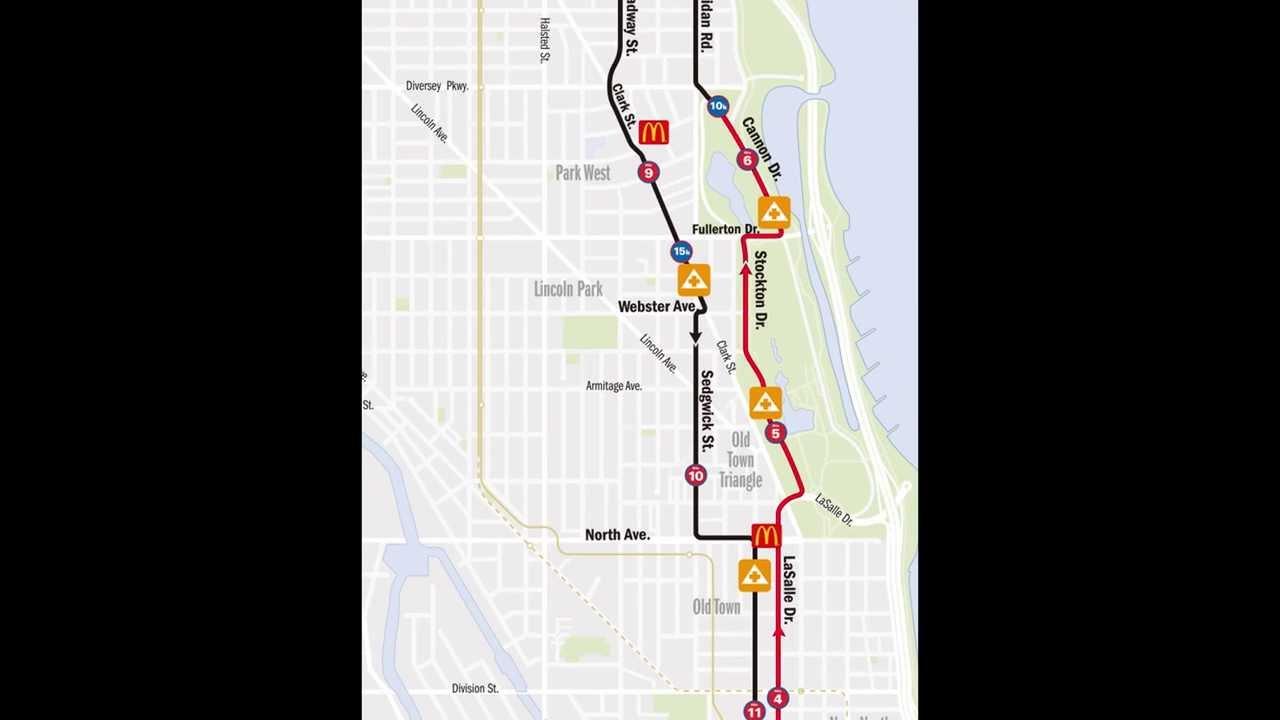 Bank Of America Chicago Marathon Race Results Chicago Illinois - Nyc marathon course map pdf