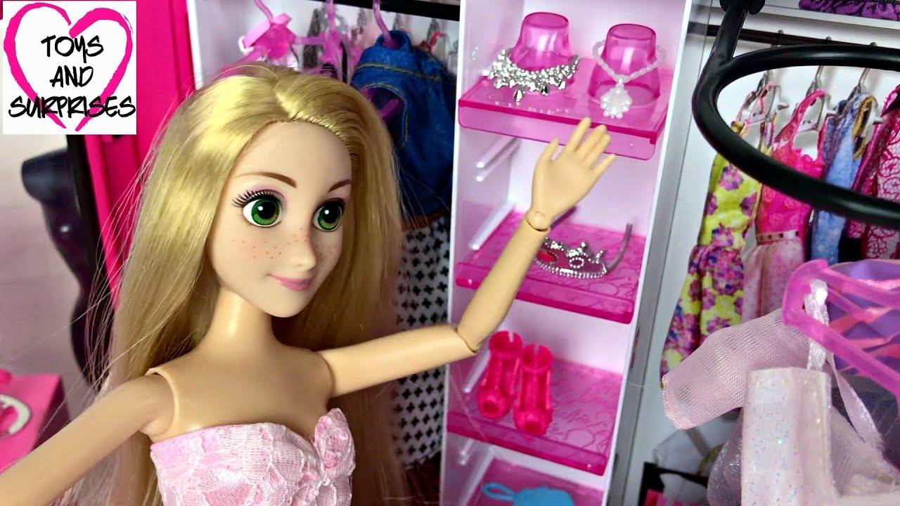Barbie Rapunzel Pink Bedroom  Cinderella  🤗Bedroom Morning Routine Pink Bedroom💖