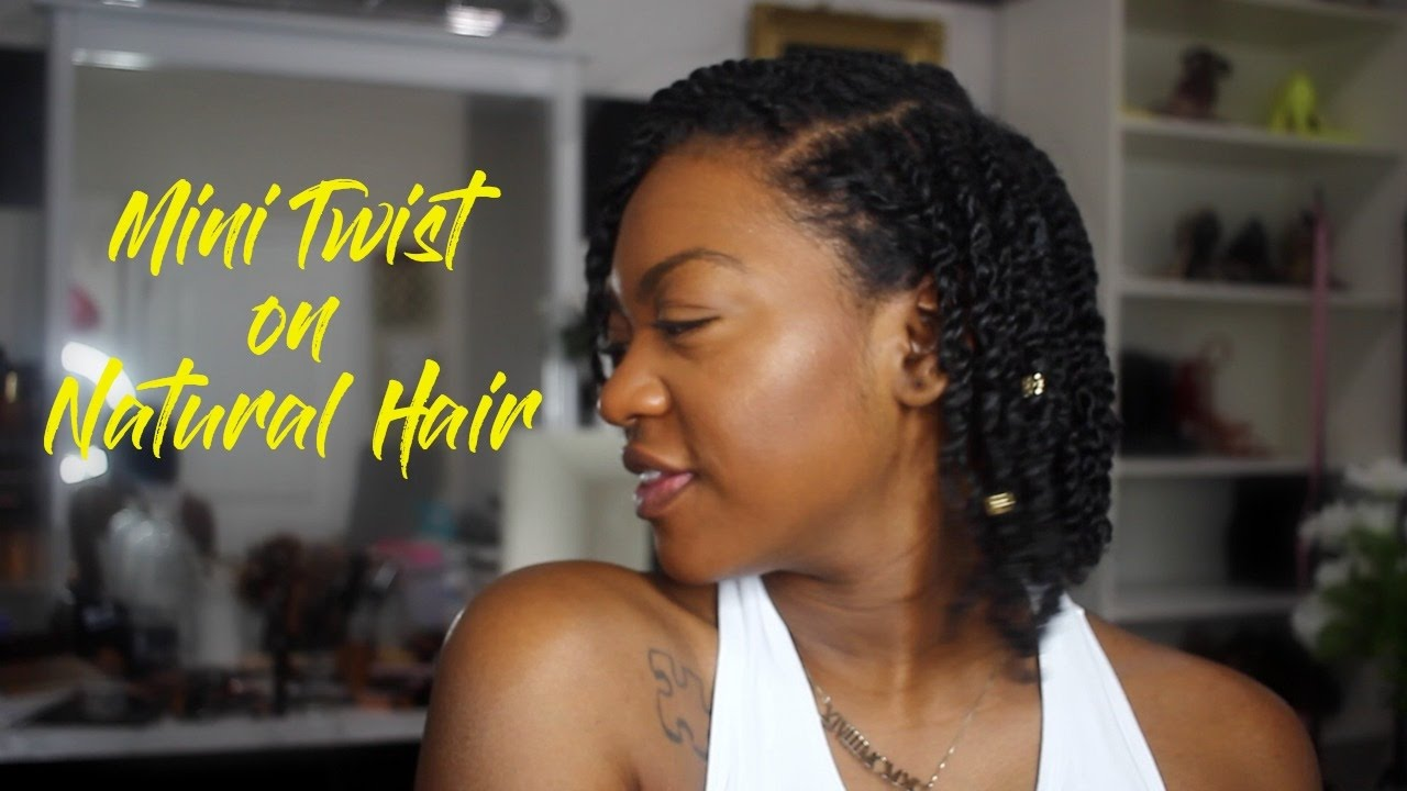 Mini Twist On Natural 3c Hair Cute Protective Healthy Style