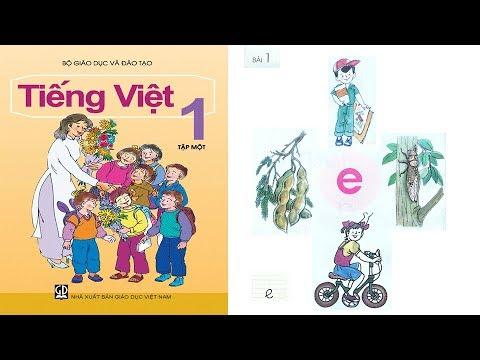 Tiếng Việt lớp 1 Tập 1 Bài 1 | dạy bé học chữ cái tập đọc  | PA channel