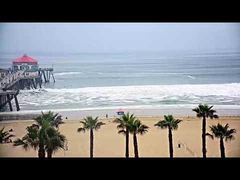 Cam Rewind: A Few Tubes At Northside Huntington Beach Pier