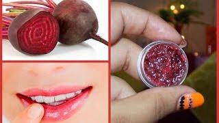 كيفية جعل الطبيعي الشمندر بلسم الشفاه في المنزل | الحصول على لينة الوردي الشفاه بشكل طبيعي