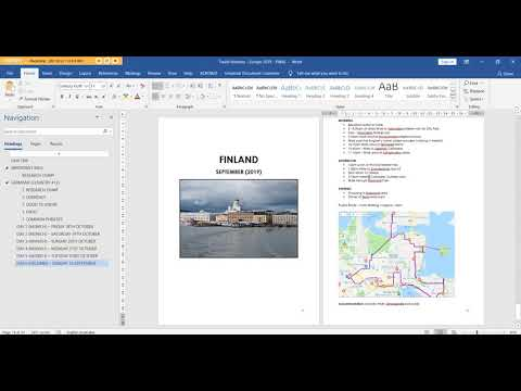 How I Use Microsoft Word To Plan A Travel Itinerary (my Template & Planning Process)