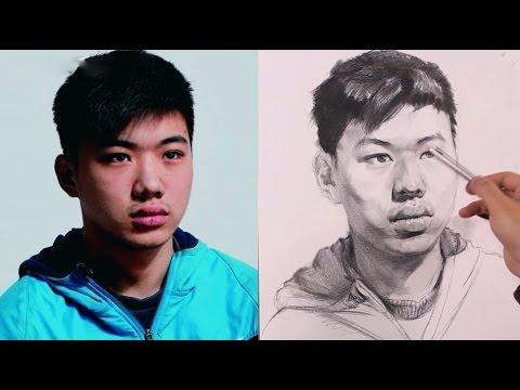 Portrait of a Boy Drawing Techniques
