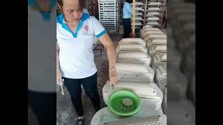 Quy trình sản xuất thanh gốm chà lưng không dùng tay Owada
