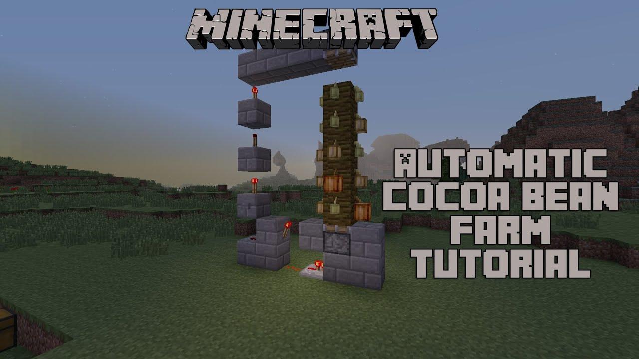 Minecraft - Automatic Cocoa Bean Farm Tutorial - YouTube