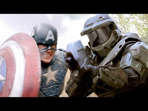CAPTAIN AMERICA vs MASTER CHIEF - Super Power Beat Down (Episode 11)