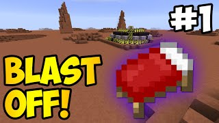 Minecraft: THE SEARCH FOR A BED - Blast Off! Ep. 1 (HQM Modpack)