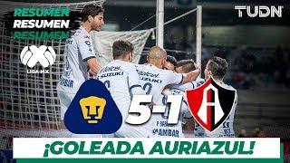 Resumen y goles | Pumas 5 - 1 Atlas | Liga Mx - AP 19 - J16 | TUDN