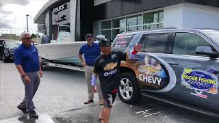 Jeff and Jordan with Captain Geoff Page!   Sunset Chevrolet Buick GMC