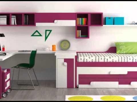 Habitaciones para ni os con y sin literas youtube for Literas de madera para ninos