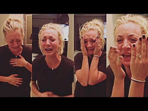 Kaley Cuoco is engaged on her 32nd birthday!!! Watch emotional proposal