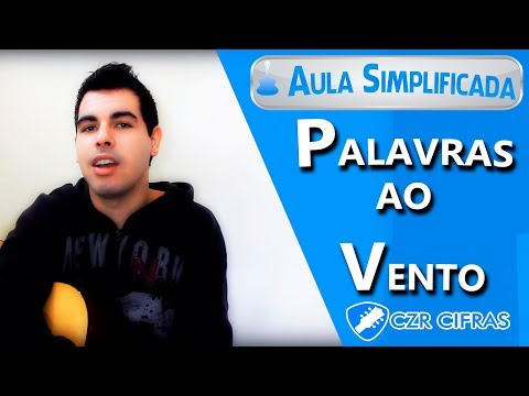 Aula de Violão música com 2 acordes para Iniciantes - Palavras ao Vento Cassia Eller