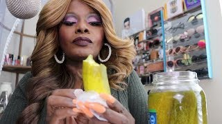 CRUNCHY PICKLE ASMR EATING SOUNDS Trying Great Gherkins Wholes