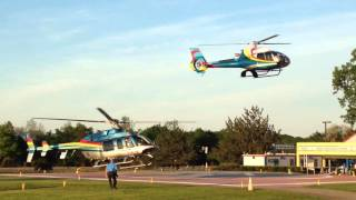 Bell 407 and Airbus H130 Jockey for the Camera