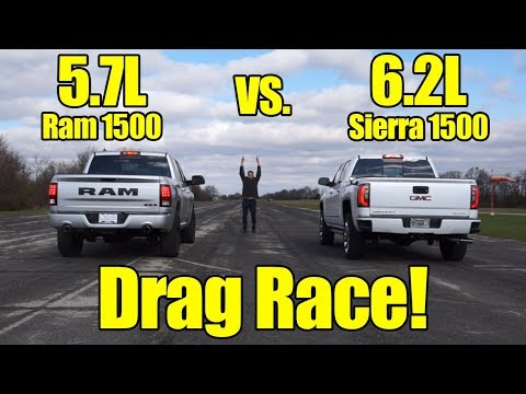 Ram 1500 vs GMC Sierra 1500 Drag Race! This was a close one! It's Kunes Country Prize Fights!