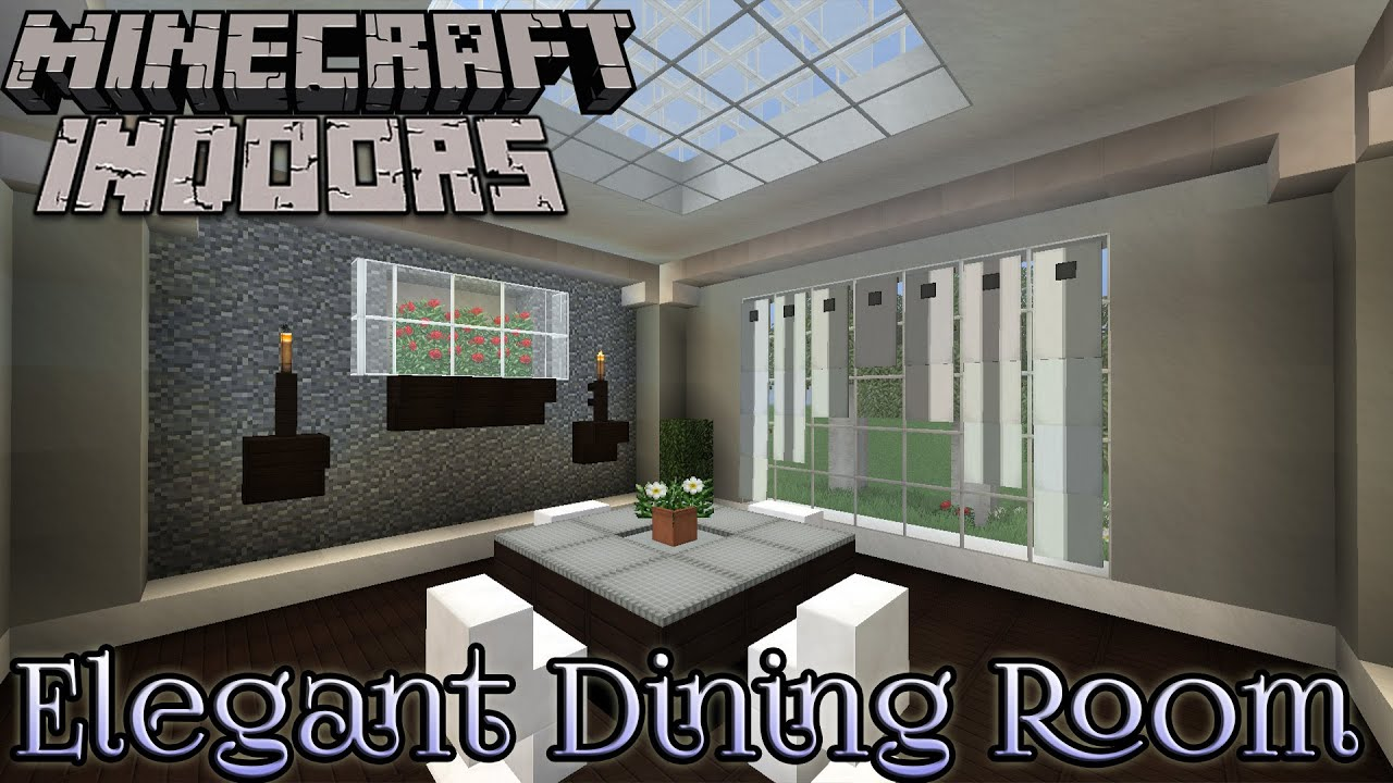 Elegant Dining Room - Minecraft Indoors Interior Design - YouTube on small kitchen in minecraft, bedroom design in minecraft, interior design ideas in minecraft,