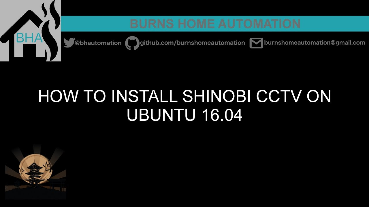 How to install Shinobi CCTV on Ubuntu 16 04