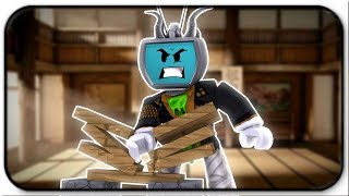 Breaking Boards Like A Champion! New Olympic Gold Medalist? - Roblox Karate Chop Simulator