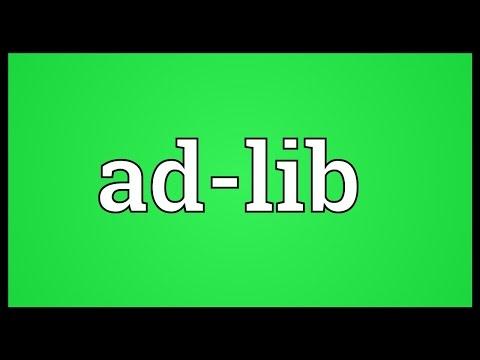 Adlib Meaning