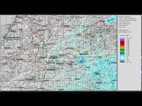 Doppler Radar - Severe Thunderstorm - St Joseph Co. IN - Cass Co MI - May 31, 2011