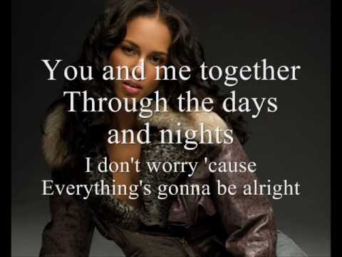 Alicia Keys No One LYrics On Screen