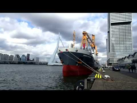 Multi purpose vessel Onego Navigator at the Wilhelminakade, Rotterdam, Netherlands 2013-10-04