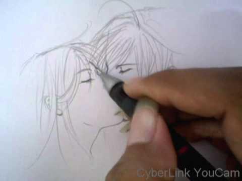 วิธีวาดการ์ตูน(ฉากจูบ)