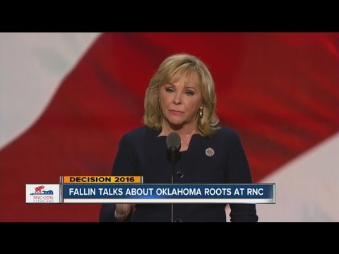 Gov. Mary Fallin represents Oklahoma at the Republician National Convention