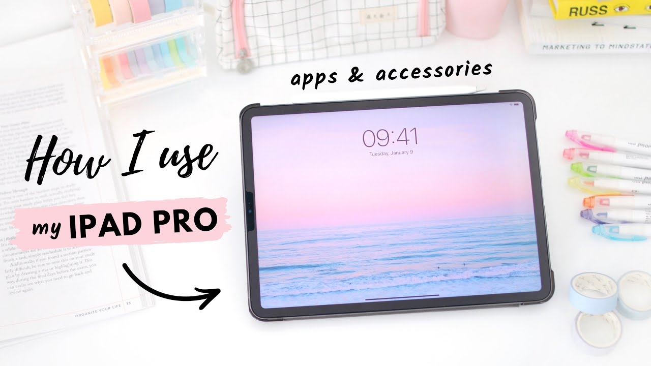 How I use my iPad Pro 🌟 apps & accessories for school and productivity!