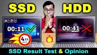 SSD vs HDD Speed Test in Lenovo IP 320 | SSD vs HDD Performance test in Hindi | SSD in Lenovo IP320
