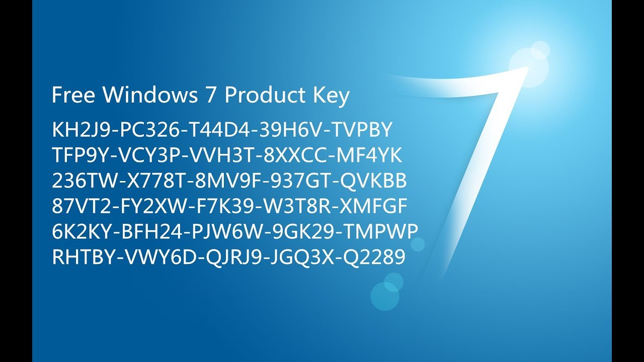 windows 7 professional product key free