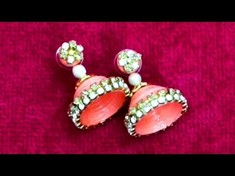 quilling earrings jhumka making - How to Make quilling paper earrings new designs Quilling Earrings