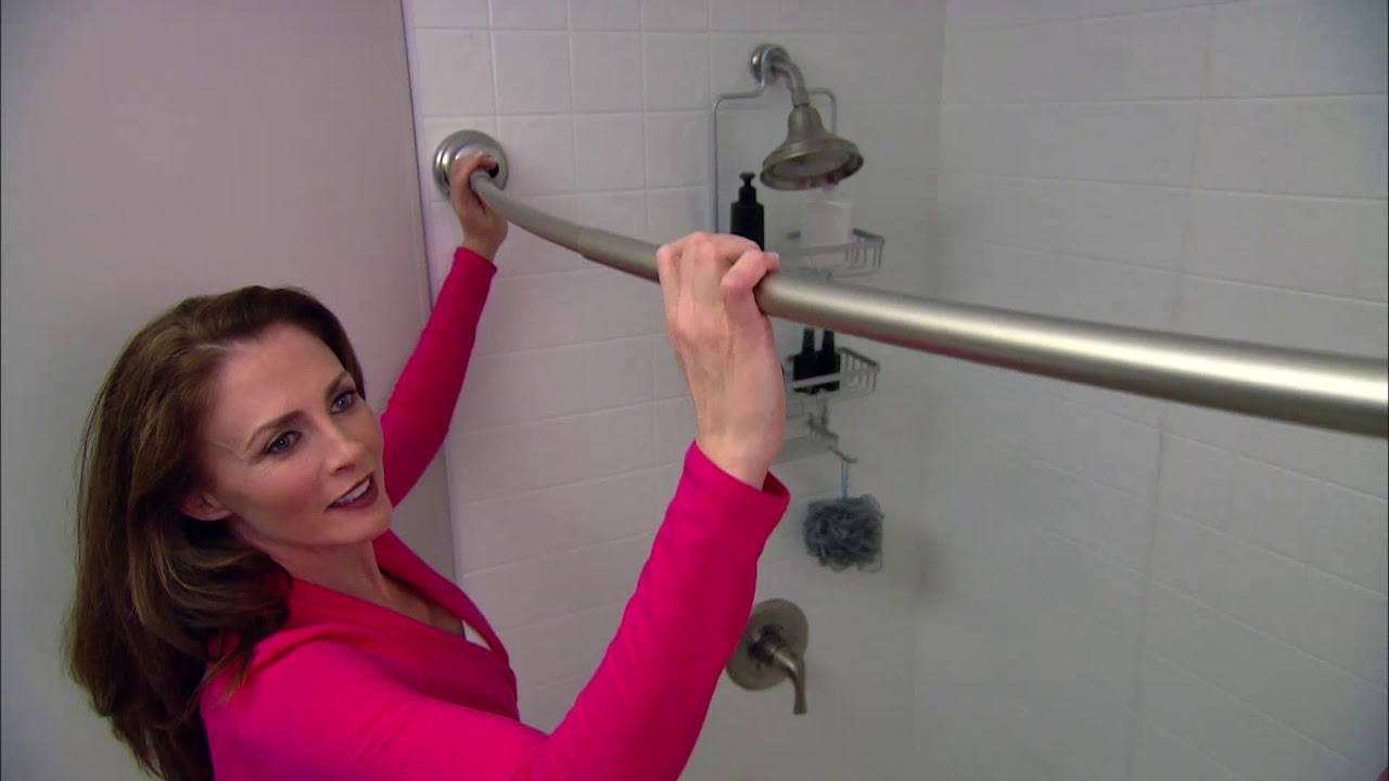 zenna home neverrust tension curved shower rod from zenith home corp