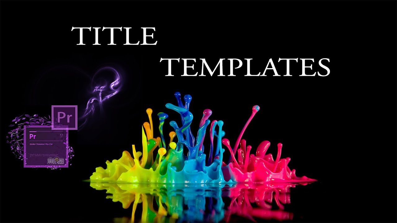 Adobe Premiere: How to use Title Templates - YouTube