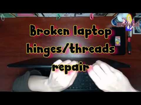 Laptop hinge repair/brass inserts reattachment