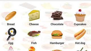 Ingilis dili oyrenek / oyredici videolar / учим продукты на английском для детей